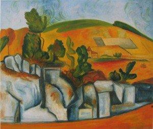 Les peintures à l'huile sur toile dans Peinture à l'huile la-provence-en-reve-300x253