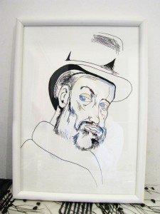 Interprétation libre d'un auto-portrait de Paul Cézanne